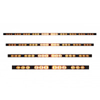 High Power LED Directional Warning Light Bar Turned On