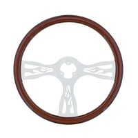 "18"" Chrome Flame Steering Wheel"
