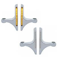 Peterbilt Double J Style Headlight Brackets With Amber LED