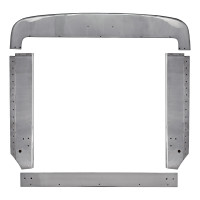 Peterbilt 359 Grill Surround Trim Set Stainless Steel