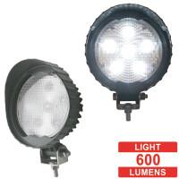 6 High Power 3 Watt LED Round Work Light