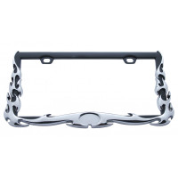 Universal Flame License Plate Frame