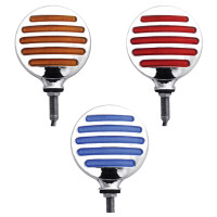 Double Face Combination Dual Flatline Red/Amber/Blue LED