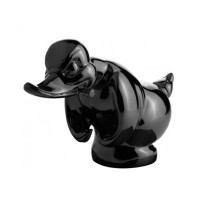 Gloss Black Death Proof Duck Angry Hood Ornament