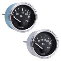 Semi Truck Electrical Oil Pressure Gauge With Optional Sender Kit Series 1
