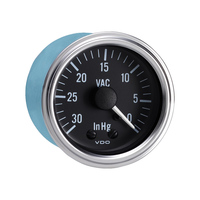 "Semi Truck 30"" Hg Mechanical Vacuum Gauge With Optional Kit Series 1"