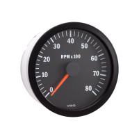 "Semi Truck 4"" Electrical Programmable Tachometer Gauge Vision Black"