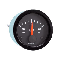 Semi Truck Electrical Ammeter Gauge Vision Black