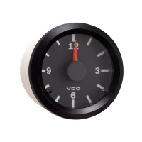 Semi Truck Electrical Analog Clock Gauge Vision Black