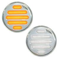 """2"""" Round Dual Revolution Flatline Amber And White LED Marker Light"""