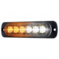6 High Power LED Dual Color Warning Light