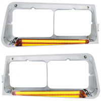 Freightliner FLD Headlight Bezel With GLO LED Lights