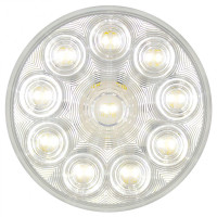 "4"" Round Competition Series Back Up Light Lit"