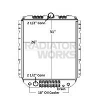 International 1600 1700 4600 4900 Radiator With Oil Cooler