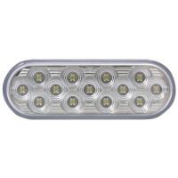 "4"" Oval Mirror White Back-Up LED Light"