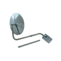 "8 1/2"" Convex Stainless Steel Mirror Head Assembly"
