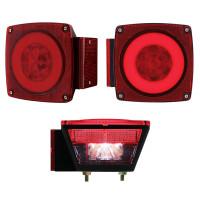 Square LED STT License Combination GLO Light Driver Passenger License Function
