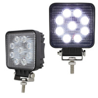"4 1/2"" High Power 9 LED Square Work Flood Light Competition Series"