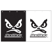 "Polyguard Mud Flap ""Bad Boy"" 24"" x 30"" Black White"