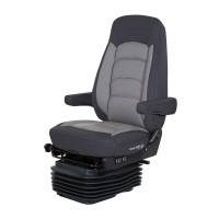 Bostrom Serta Low Profile Wide Ride High Back Seat In Black/Grey