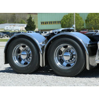"Hogebuilt 100"" Value-Line Stainless Steel Single Axle Ultimate Lowrider Fenders Side View"