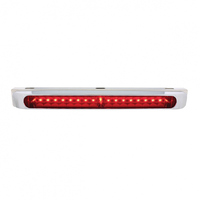 "STT 17"" LED Light Bar With Stainless Steel Double Face Bracket - With Chrome Bezel"