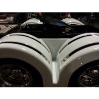 Double Hump Rear Fender Set With Stainless Steel Strips