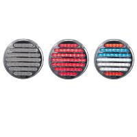 4'' Round Dual Flatline Red/USA STT/Reverse Combo Light