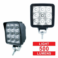 High Power 9 LED Square Work Light