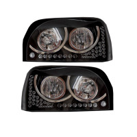 Freightliner Century Black And Chrome Headlights Both Sides