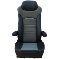 High Back Faux Leather Seat - Black & Grey