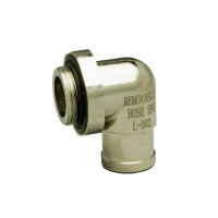 90 Degree Removable Hose End For EZ Oil Drain Valves - Large