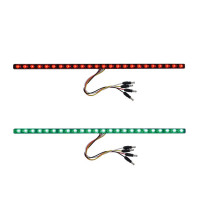 "17"" Dual Revolution Light Strip Red & Green LED Marker Light"