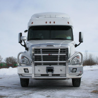 Freightliner Cascadia Ali Arc Curved Front Bumper Grille Guard