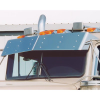 Kenworth W900 T800 T600 T300 Bow-Tie Drop Visor Blind Mount for Flat Windshields
