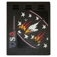"24"" x 30"" USA Flying Eagle Mud Flaps With Black Background"