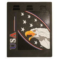 "24"" x 30"" USA Eagle And Stars Mud Flaps With Black Background"