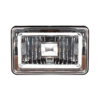 "6"" x 4"" LED Halo Angel Eye Headlight High & Low Beam - Front Lit"