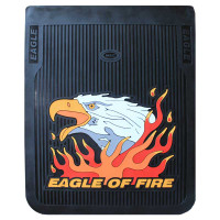 "24"" x 24"" Vertical Fire Eagle Mud Flaps With Black Background"