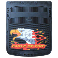 "24"" x 24"" Horizontal Fire Eagle Mud Flaps With Black Background"