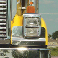International 9300 Solid Mount Fender Guards W/Inboard Hinges By Roadworks