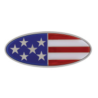 Peterbilt Chrome American Flag Style Emblem