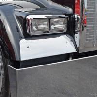Kenworth W900L Fender Guard 1993 & Newer On Black Truck
