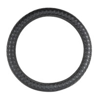 "18"" Black Criss Cross Weave Steering Wheel Cover By Grand General"