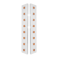 """15"""" Donaldson Front Air Cleaner Panels With 16 Amber LED Lights By Grand General Off"""