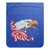 """24"""" x 30"""" American Eagle Mud Flaps With Blue Background"""