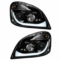 Blackout Projector Headlight With LED Dual Function Both White