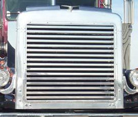 Peterbilt 359 Grill Insert With 16 Horizontal Bars By Roadworks