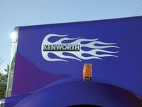 Kenworth Hood Emblem Accent - Flame