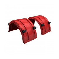 "Red Spray Master FRX Series Single Axle Poly Fenders For 19.5"" Wheels"